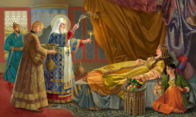 Алексий исцеляет жену хана Тайдулу