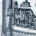 Угрешское подворье в Кремле. Мировой атлас 1667г.