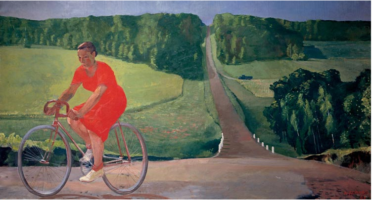 Колхозница на велосипеде А.Дейнека