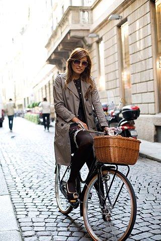 На велосипеде за продуктами