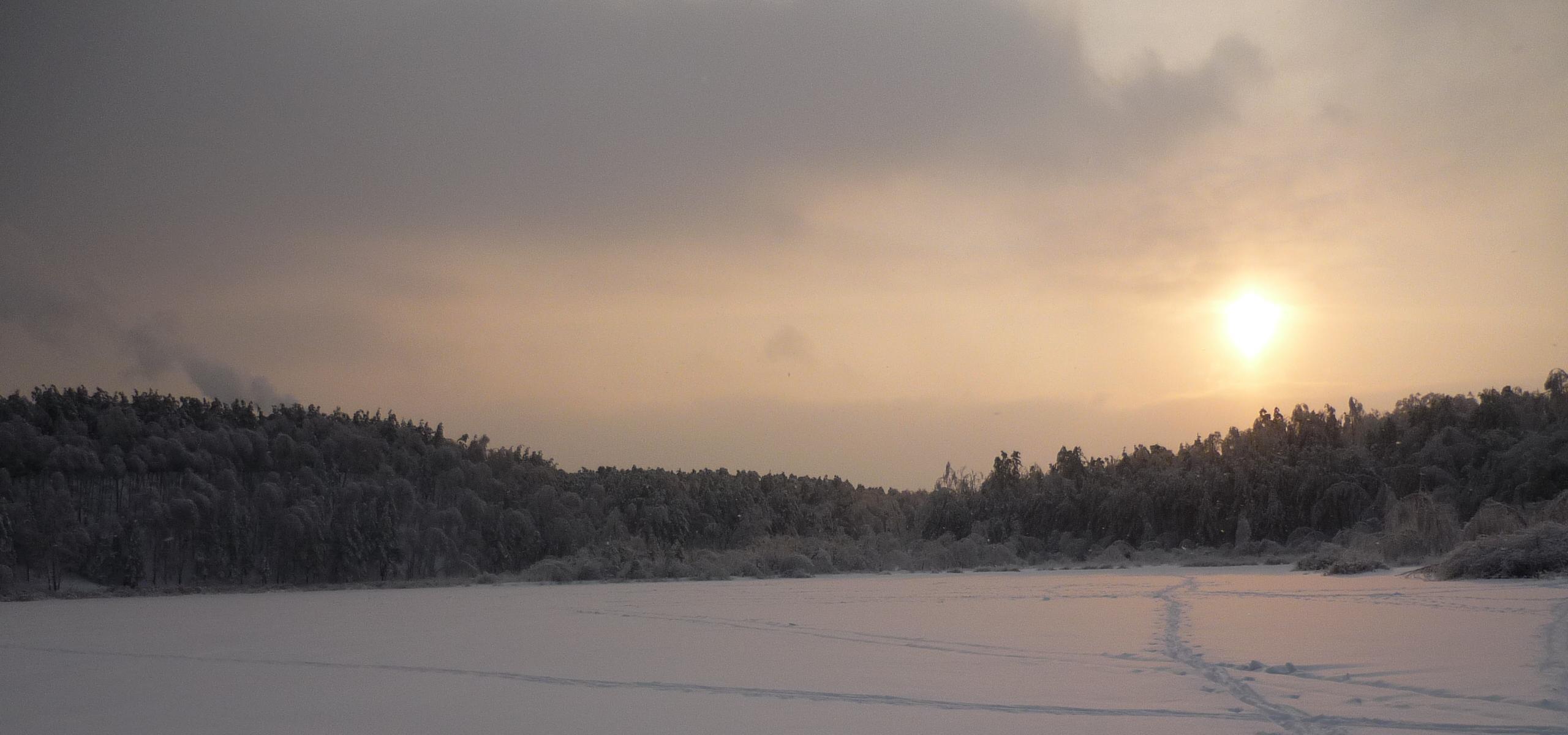 Лыткаринский карьер зимой
