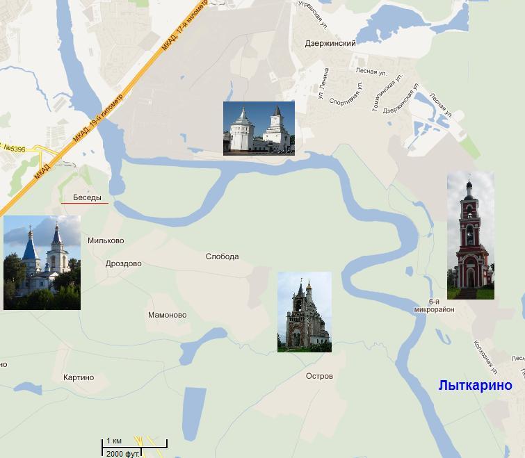 Карта местности. Лыткарино- Беседы