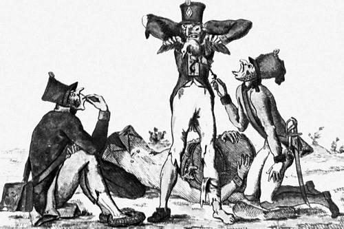Офорт, акварель. Около 1812