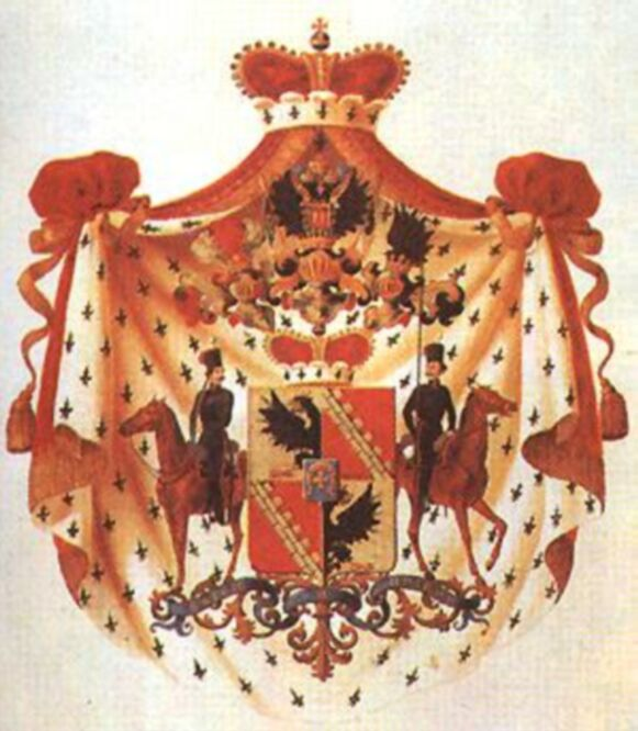 Герб графов Чернышевых, позднее князей