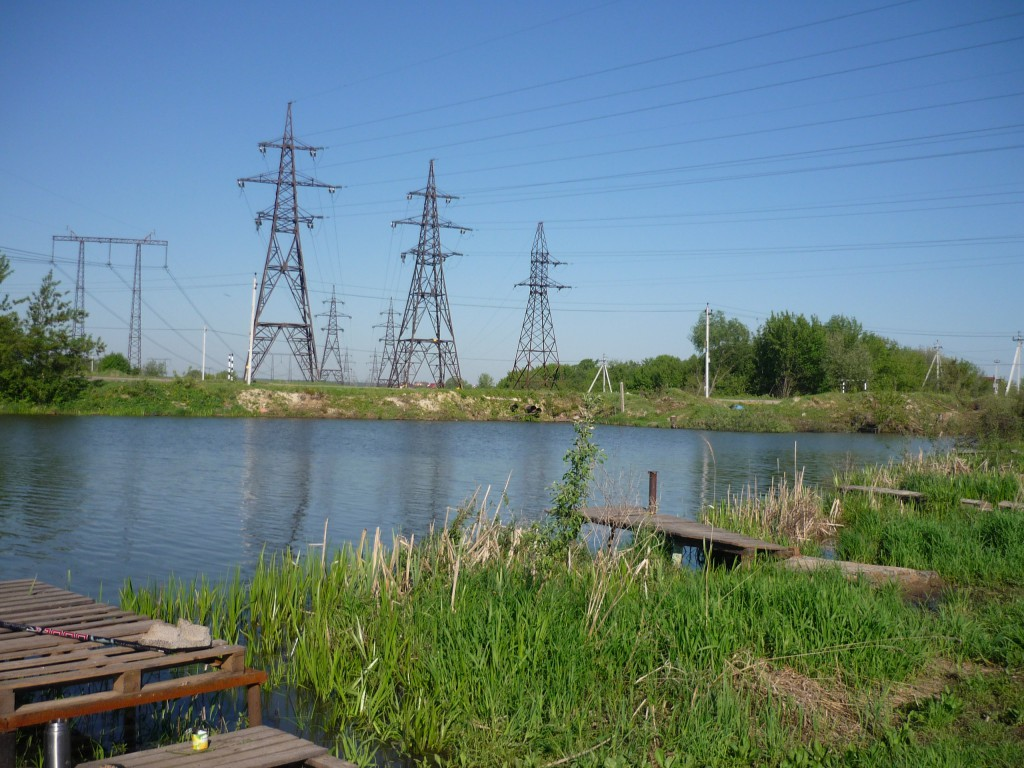Озера Развилка у деревни Зеленая слобода вид направо