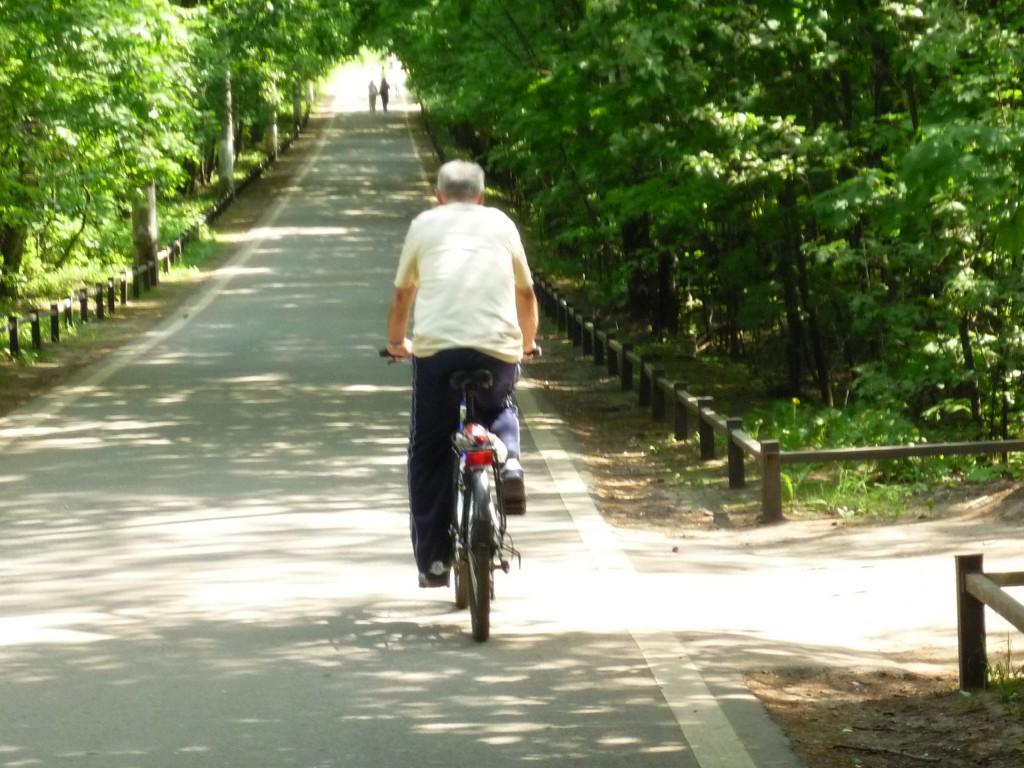 """Велосипедист в ПКиО """"Кузминки"""""""