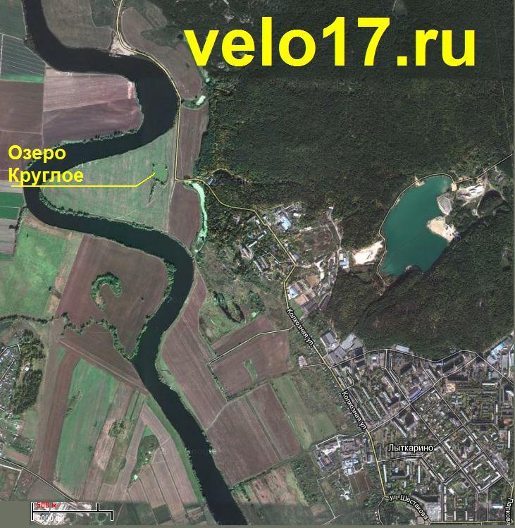 Озеро Круглое на карте у Лыткарино