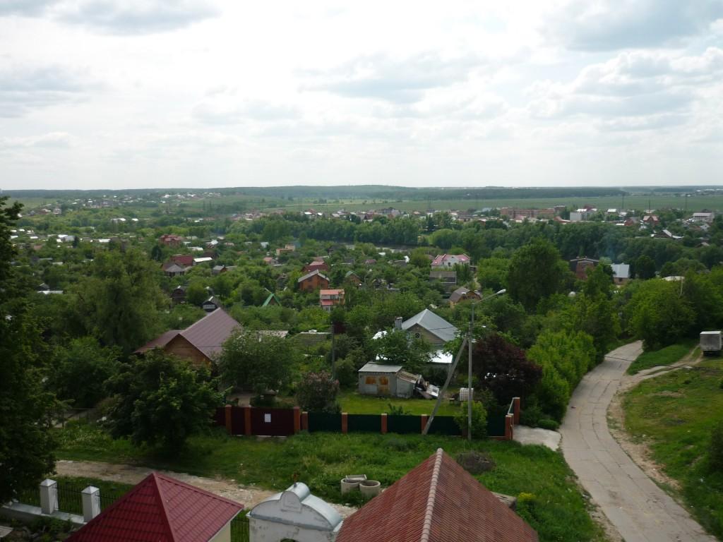Вид с колокольни церкви в Верхнем Мячково. Запад