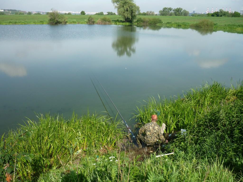 Рыбалка на озере  Круглое у Лыткарино