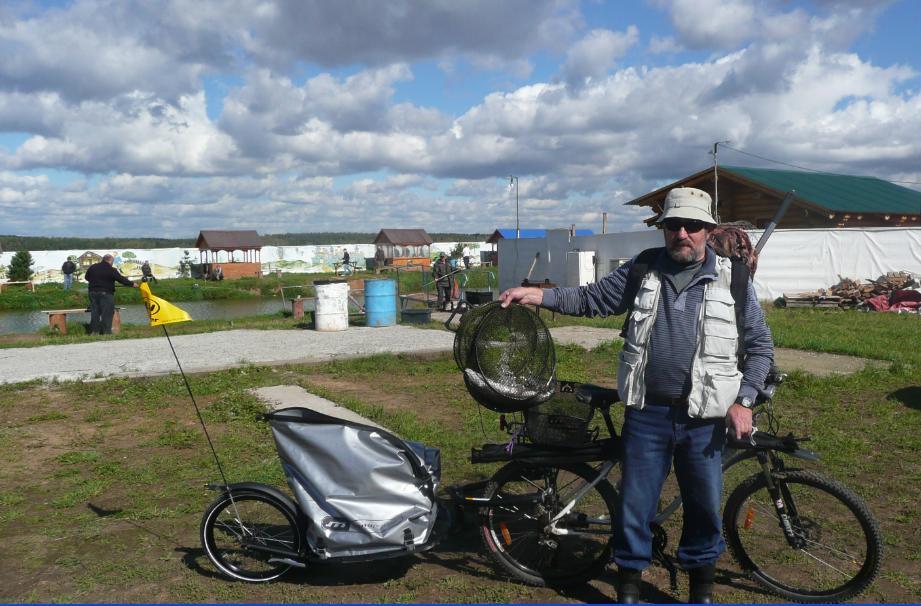 С прицепом к велосипеду на рыбалку