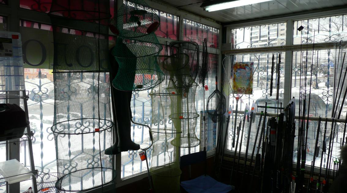 В магазине Рыболов на Песчаной в Лыткарино