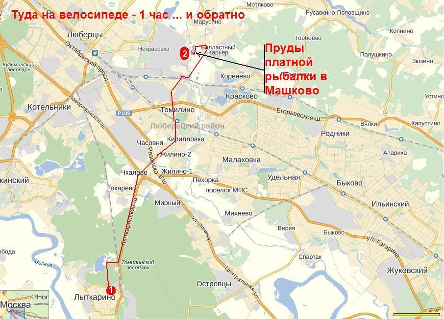 Маршрут к прудам в Машково из Лыткарино