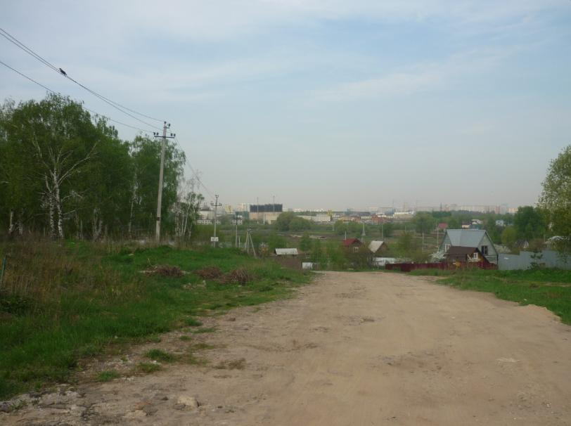 Спуск к прудам  в Машково