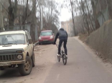 велосипедист № 0096