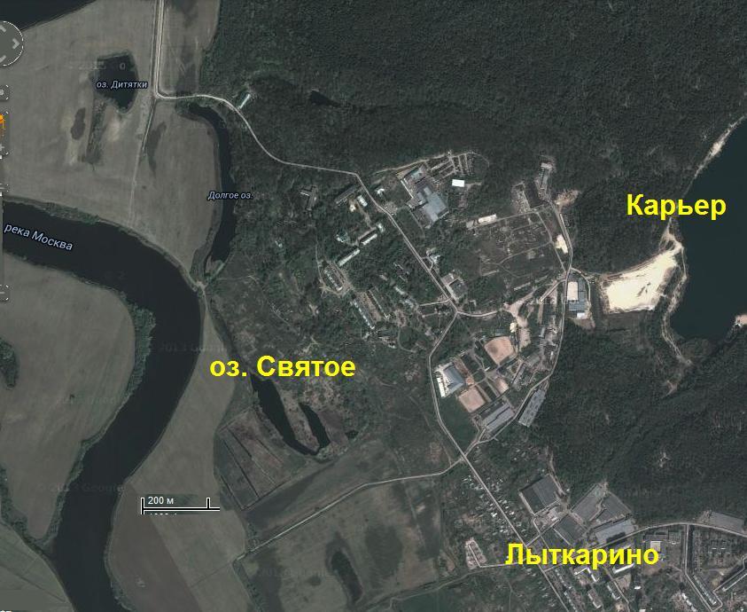 Озеро Святое в Лыткарино (Петровское)