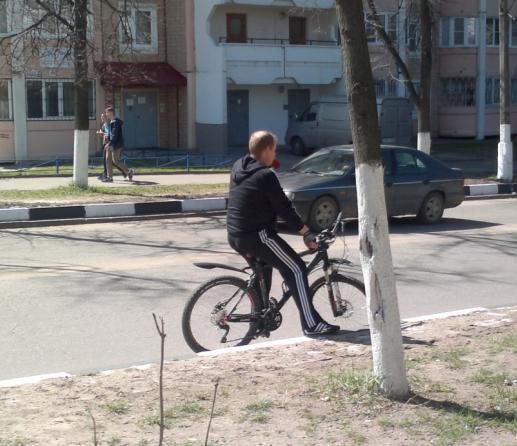 113-й велосипедист в Лыткарино и окрестностях