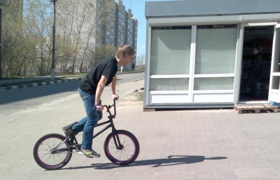 115-й велосипедист в Лыткарино и окрестностях