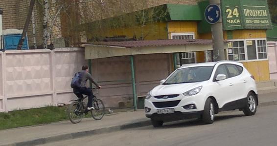 119-й  велосипедист в Лыткарино и окрестностях