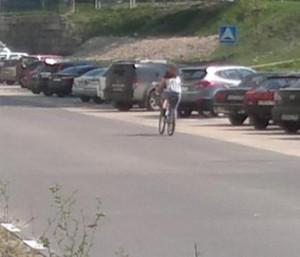 126-й  велосипедист в Лыткарино и окрестностях