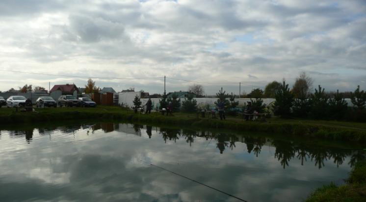 На пруду Гарантия -  ловим сига