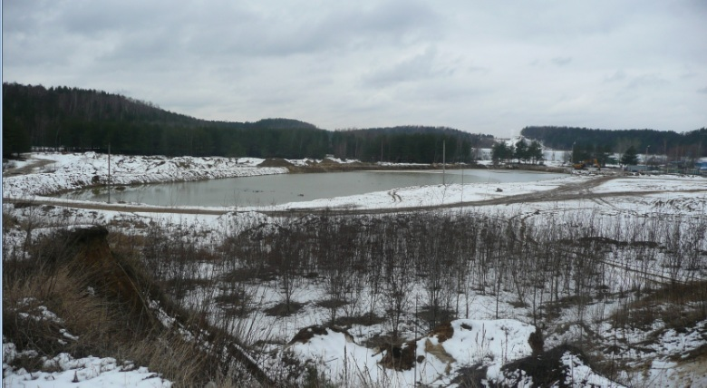 Новый пруд  на Лыткаринском карьер