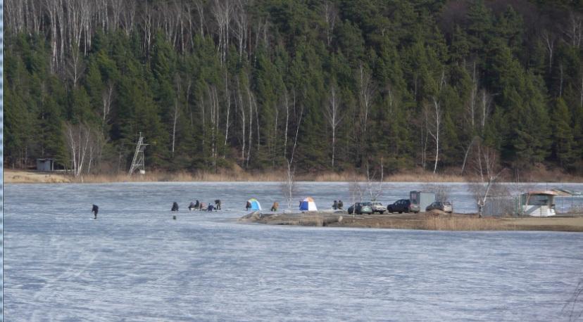 Рыбаки на карьере 20.03.2015